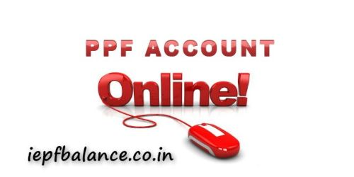 Online PPF account